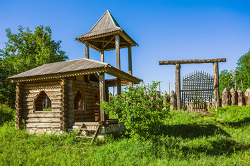 The wooden house in a countryside