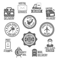 Post service label