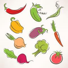 stylized vegetables