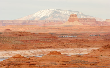 Lake Powell Smokey Mountain Utah Arizona Border Red Rock Landsca
