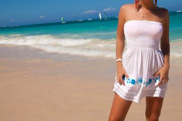 summer holidays on tropical beach.