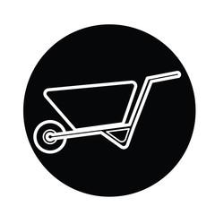 Wheelbarrow icon vector