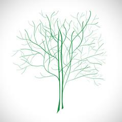 Abstract green tree. Illustration 10 version