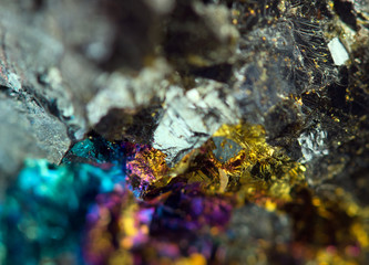 Abstract background, gold, bronze, copper, iron. Macro