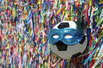 Football Carnival Mask Brazilian Wish Ribbons