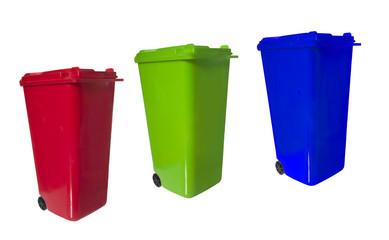 separate trash bins