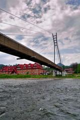 Bridge over the River Dunajec. Border of Slovakia and Poland
