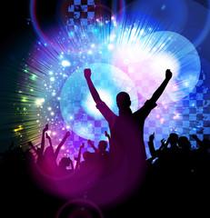 Dancing people. Concert