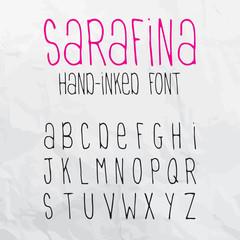 Sarafina Hand-Inked Font