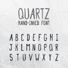 Quartz Hand-Inked Font