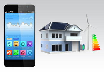 Home energy management app for smartphone