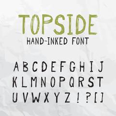 Topside Hand-Inked Font