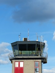 Kontrollturm des Flugplatz Oerlinghausen im Teutoburger Wald