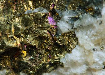 Nugget. Precious metals, crystals. Extreme closeup
