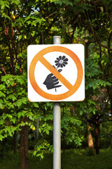 prohibit signal and tree in park