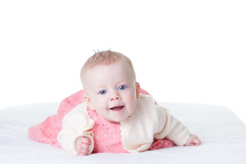 baby-girl in pink dress