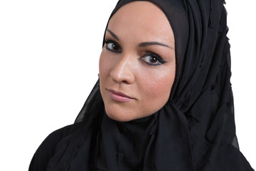 Beauiful young arabic woman,looking to the camera.