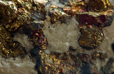 Chalcopyrite  is a copper iron sulfide mineral that crystallizes