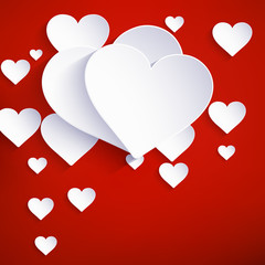 Heart for Valentines Day Background. EPS 10