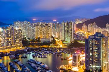 Aberdeen typhoon shelter in Hong Kong