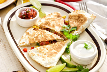 Quesadilla with vegetables