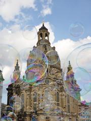 Frauenkirche mit Seifenblasen, Dresden
