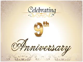 9 year anniversary golden label, 9th anniversary