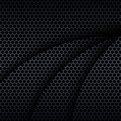 Background with hexagons pattern texture