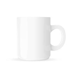 White mug blank isolated on white background