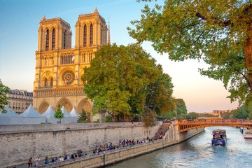 Wall Mural - Notre-Dame de Paris en France