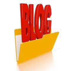 file folder with blog symbol