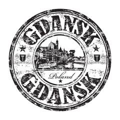 Gdansk grunge rubber stamp