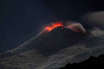 Deurstickers Vulkaan Eruption volcano Etna