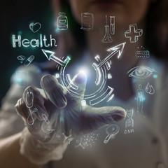 Medicine doctor modern computer interface