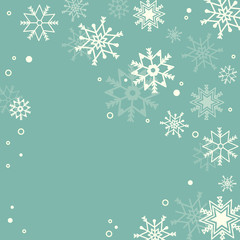 Subtle snowflakes pastel background