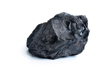 Coal on white background