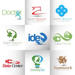 Set of icons, Symbol Design Template