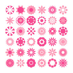 Set of flower vector, flowers icons