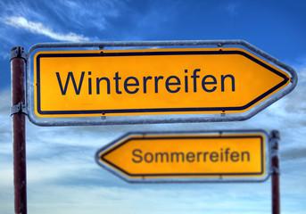 Strassenschild 1 - Winterreifen