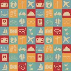 Travel seamless pattern.