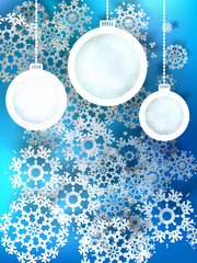 Abstract 3D Baubles Christmas background. + EPS10