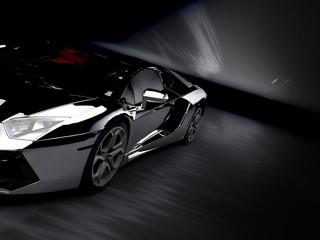 A CG render of a generic luxury sports car silver