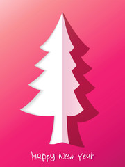 Paper cut christmas tree. + EPS8