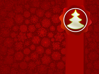 Christmas applique with tree background. + EPS8