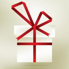 Elegant christmas gift made from stripe. + EPS8