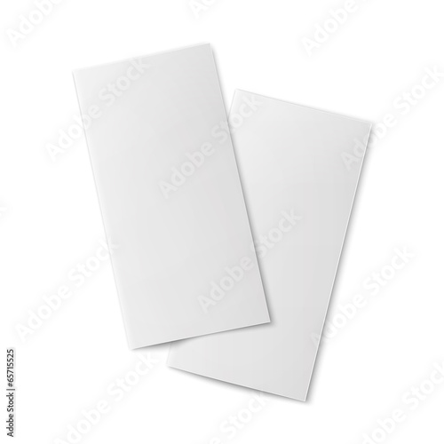 pair of blank bifold paper brochures stock image and royalty free