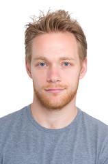 Blonde man portrait