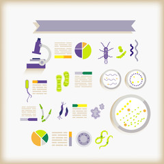 info-graphics of science/bacteria