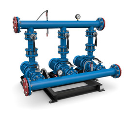 Technology: illustration pump station of water