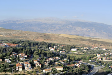 Metula village landscape in Upper Galilee.